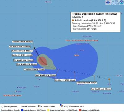 Tropical Storm warning in effect for Guam