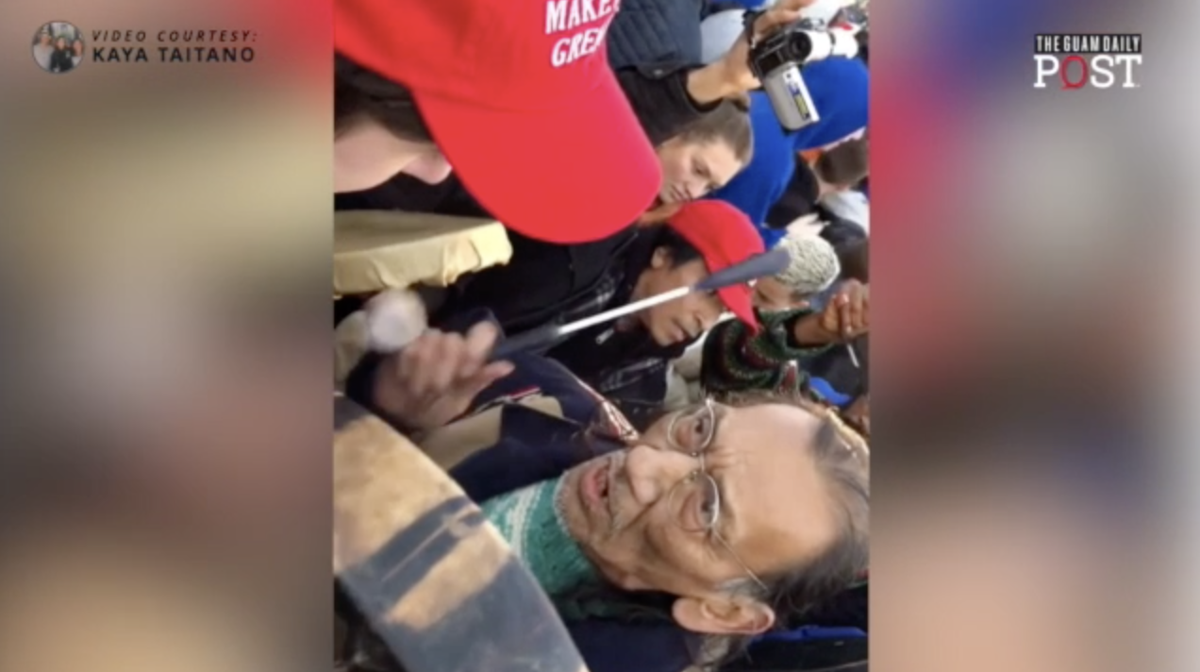 Guam resident's video captures tension after Washington, D C , march