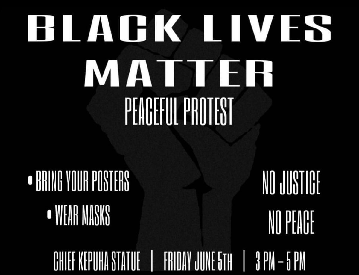 Another Black Lives Matter protest Flyer