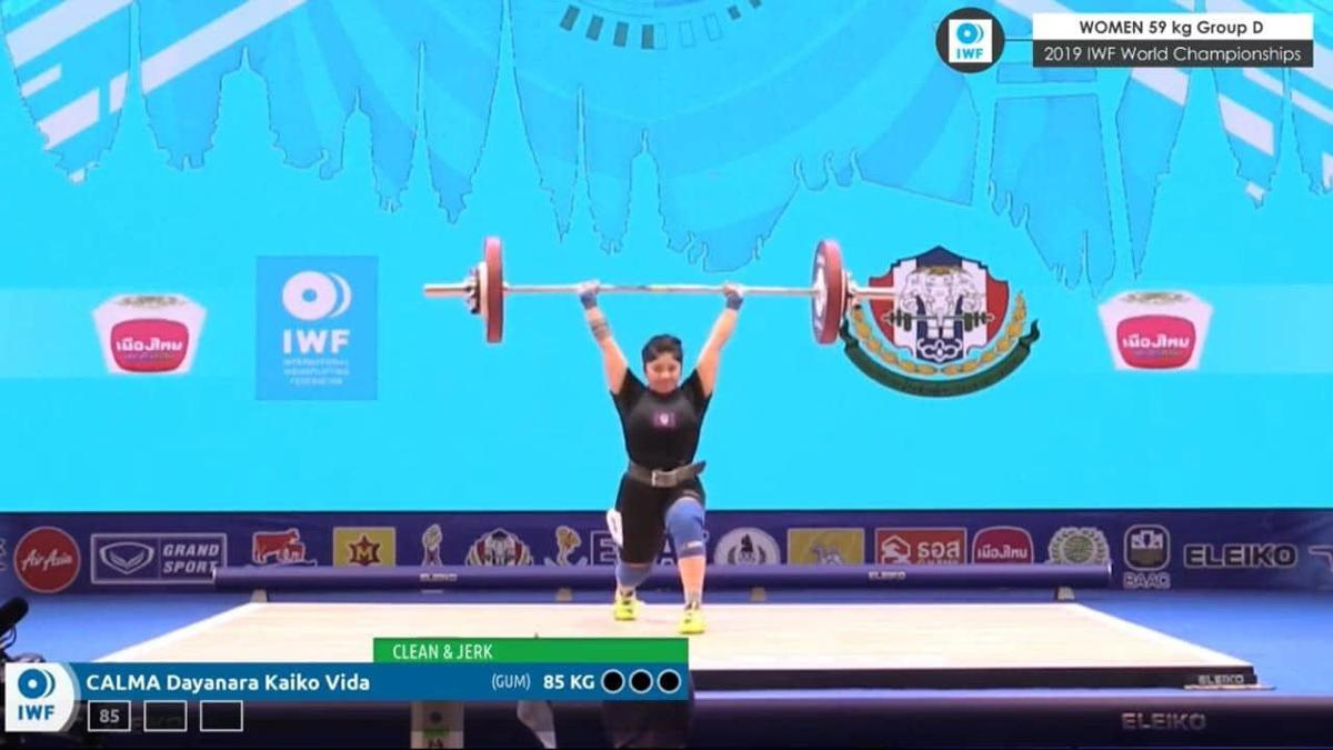 Calma competes at World Championships