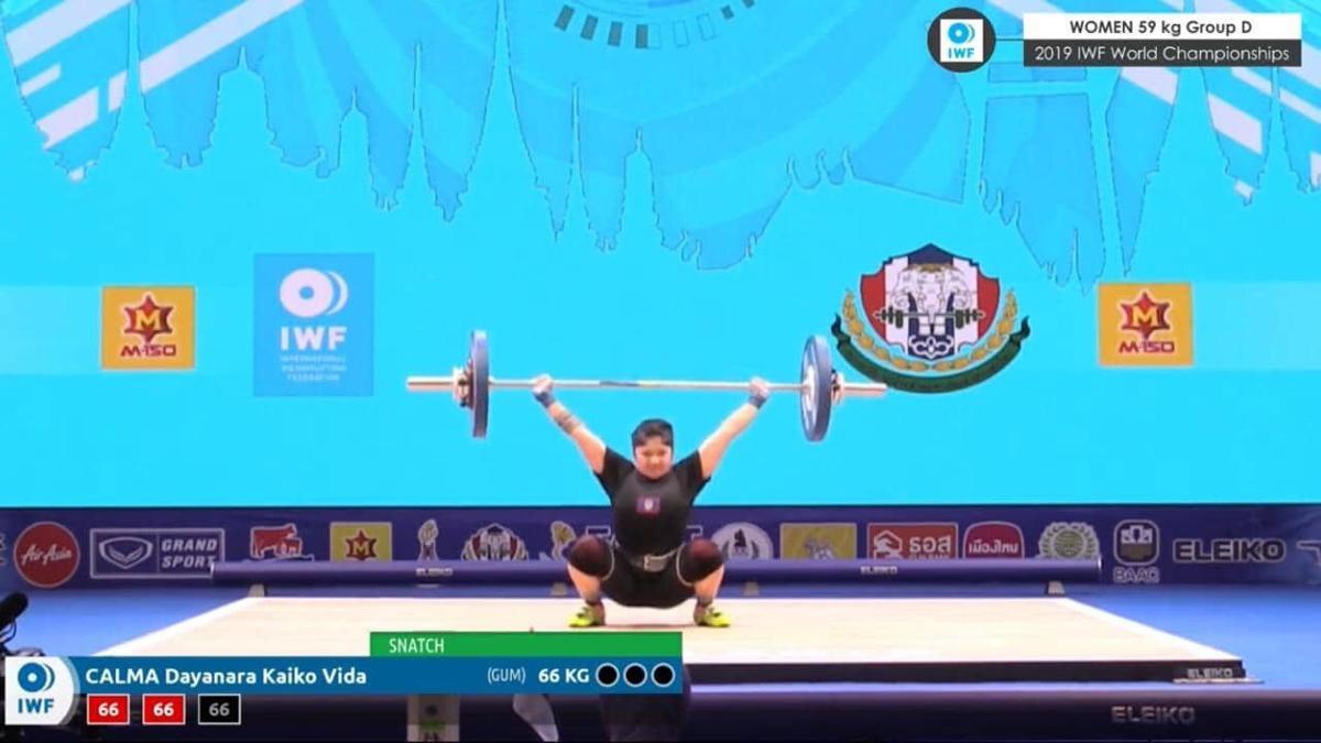 Calma competes at World Championships