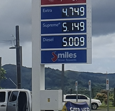 Guam gasoline prices see another uptick