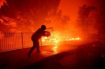 Crews battle Saddleridge Fire