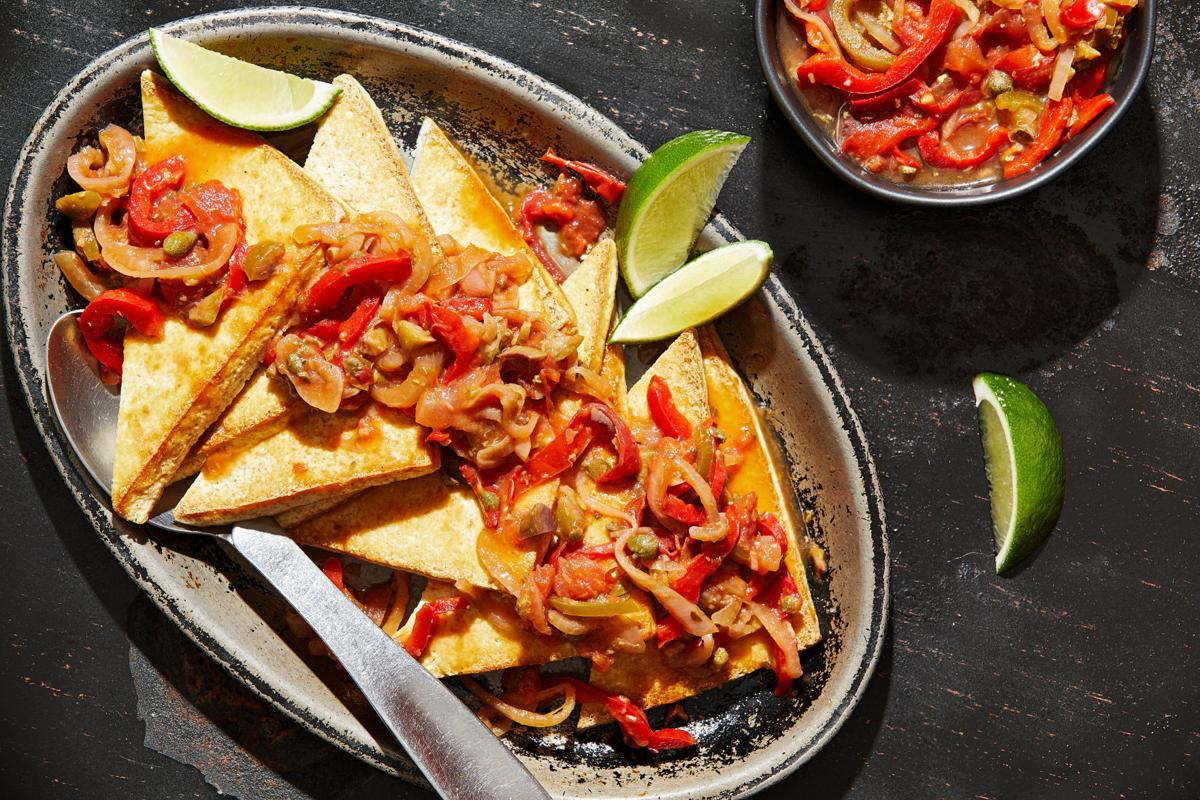 This saucy, smothered tofu with peppers and onions will have you dreaming of the Mexican coast