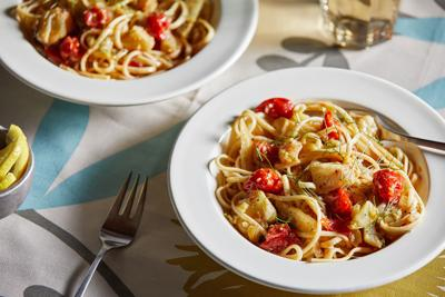 A pinch of saffron turns this pasta with cod into pure gold