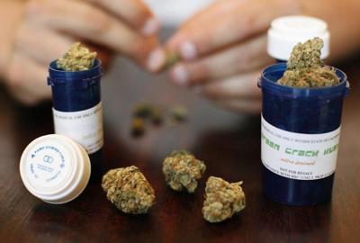 Medical marijuana is displayed in Los Angeles, California