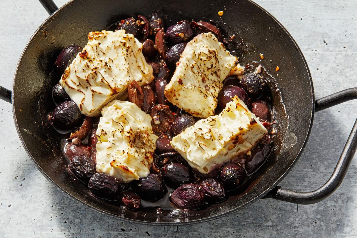 Grapes, olives power tangy feta