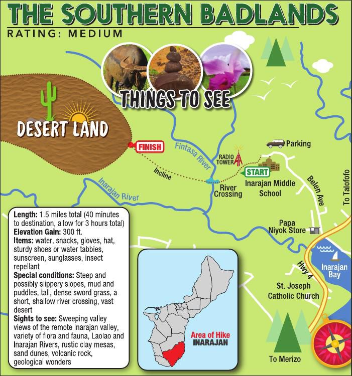 The Badlands of Southern Guam