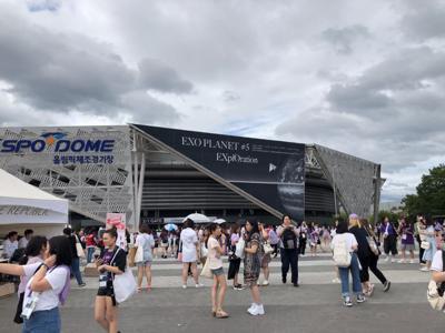 K-pop group EXO transforms