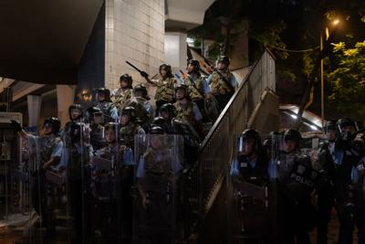 HK police accused of brutality (FOR USE WITH THIS STORY ONLY)