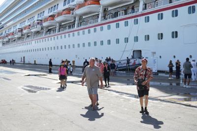 Visiting cruise ships offload trash, too