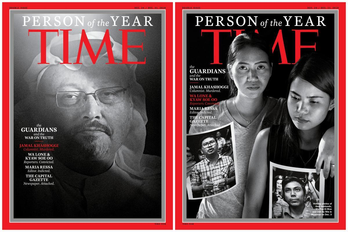 Time names journalists its 'Person of the Year'