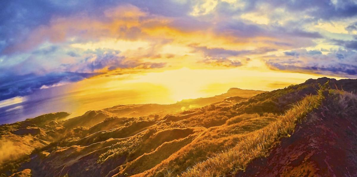 Enjoy a Guam sunset from the best spot on island - atop Mount Jumullong Manglo