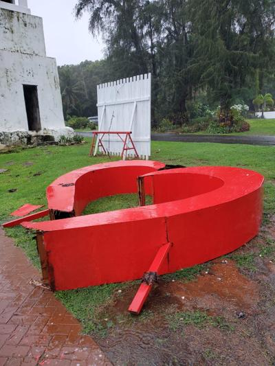 Heavy winds, rain cause some flooding, break heart in Merizo