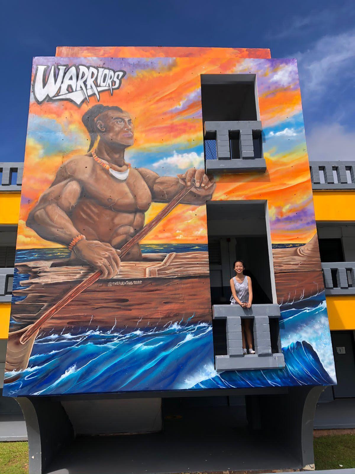 Inarajan Middle School mural brings to life legendary CHamoru chief