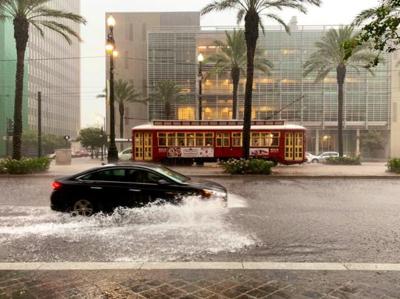 Heavy rains flood New Orleans streets