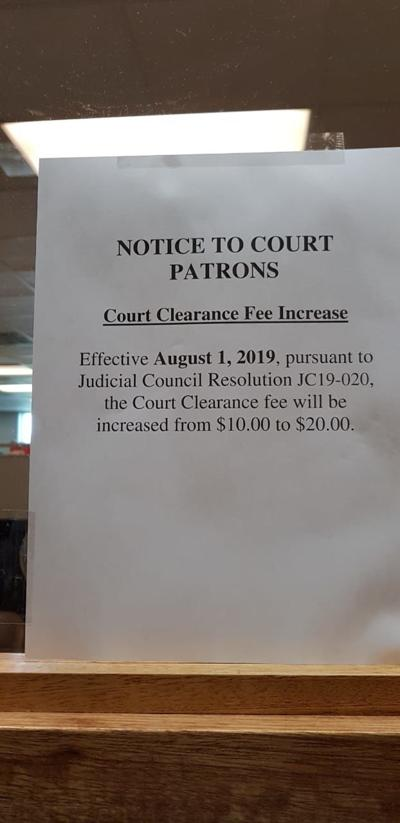Court clearance, other fees to increase