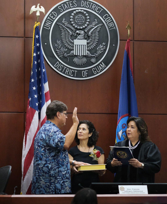 Judge Bordallo takes the federal bench