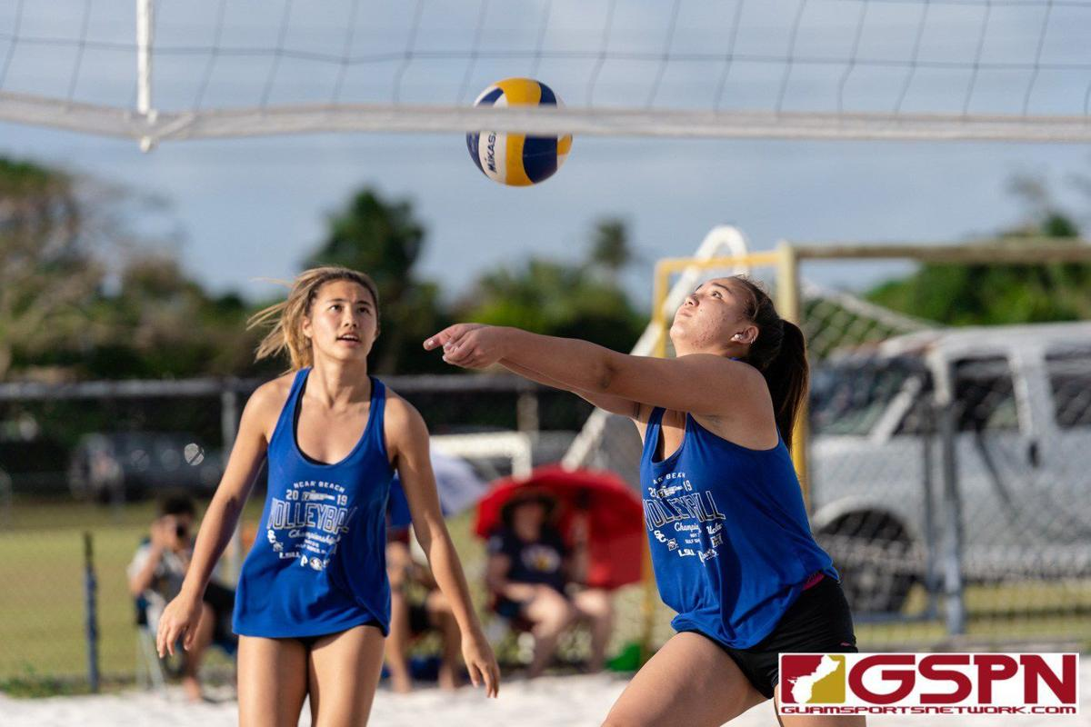 Eagles bump Knights in beach volleyball