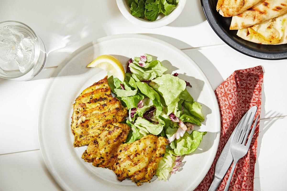 A tandoori-style marinade leads to boldly seasoned, moist and tender grilled chicken