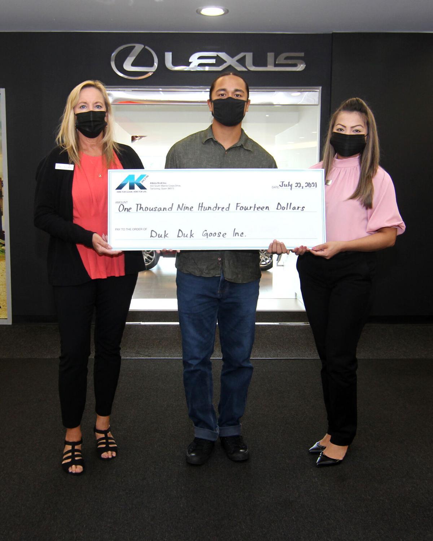 AK donates to Duk Duk Goose