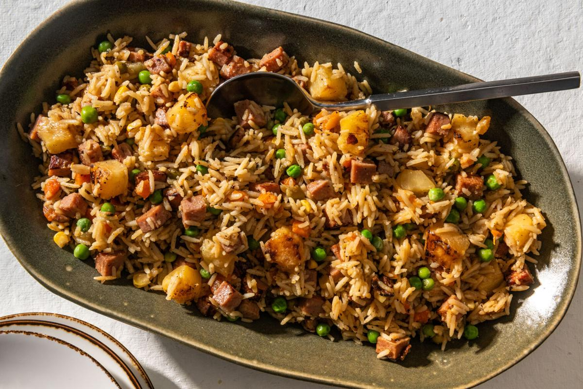 Turn to your pantry for this colorful, crispy Spam and pineapple fried rice