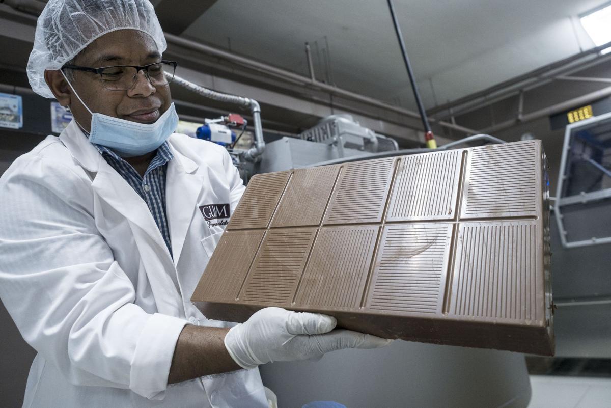 William Ymesei, solid block of Belgian chocolate