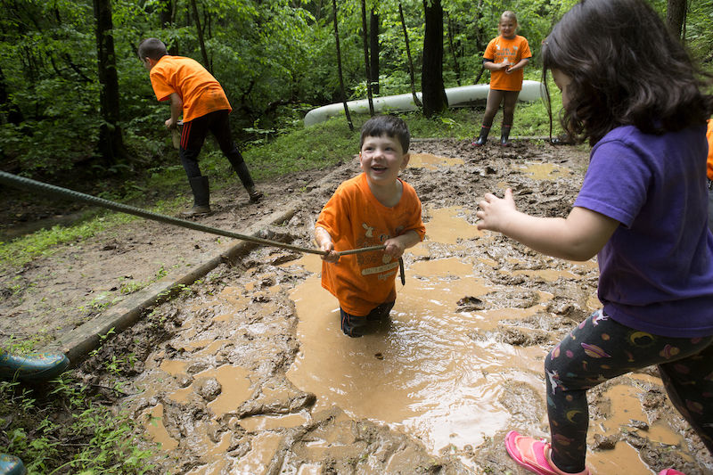 With most campuses closed, this Virginia school enjoys its moment in the woods