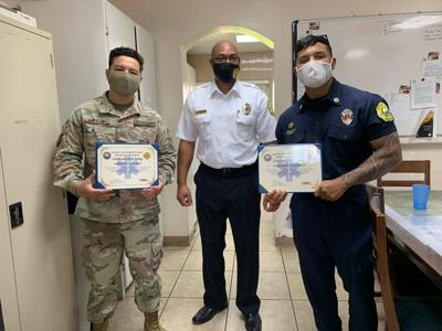 Air Guardsmen recognized for heroic act