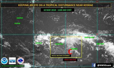 Track uncertain for weather disturbance