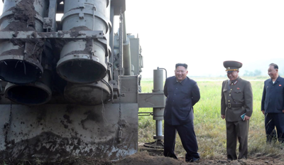 NKorea carries out super-large multiple rocket launcher test