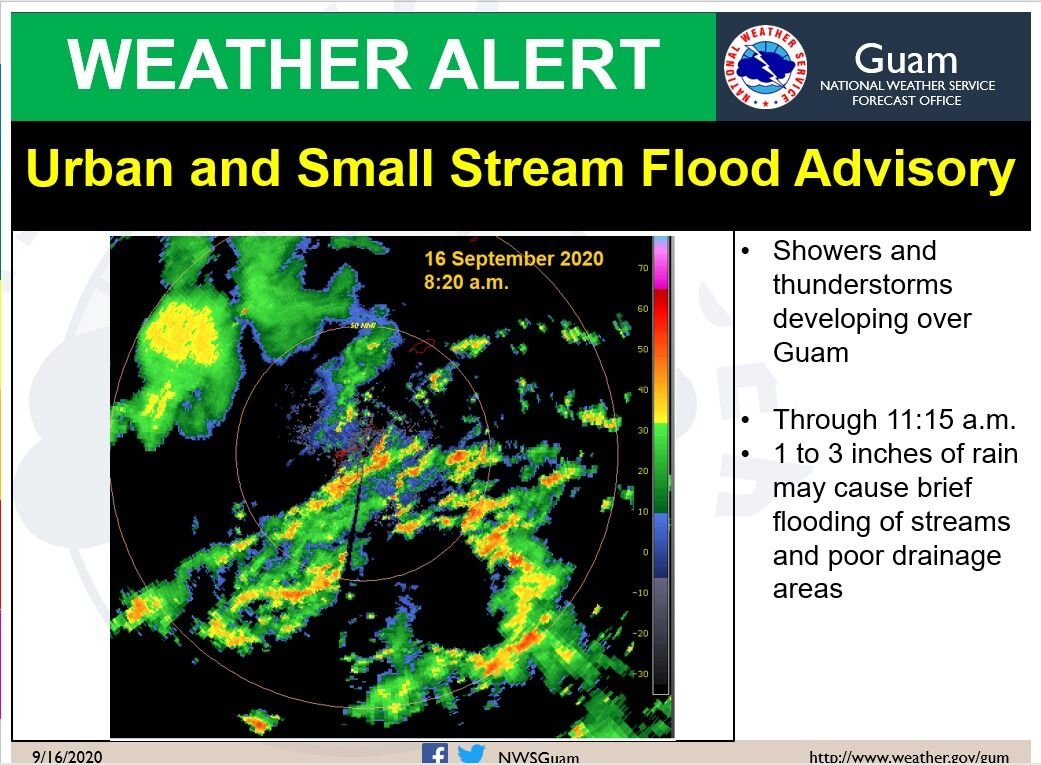 Heavy rains expected all morning; flood advisory is in effect for Guam