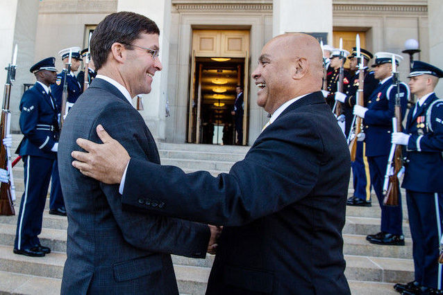 Pentagon honors FSM president with formal reception