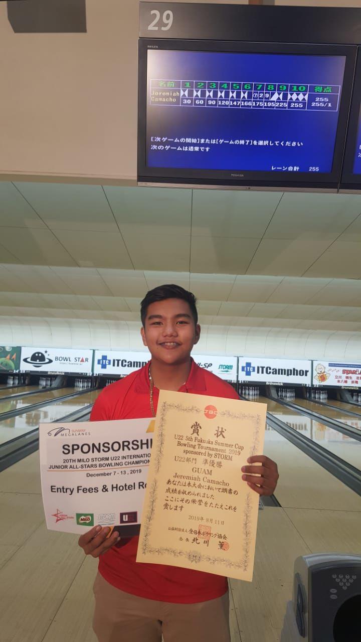 Camacho places second in Fukuoka