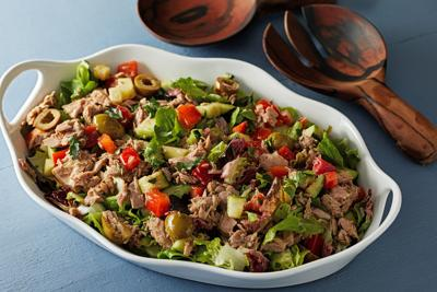 Let tuna anchor this crunchy Mediterranean salad