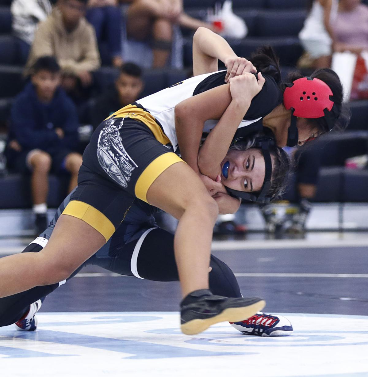 sanchez high sharks perfect in shortened iiaag wrestling