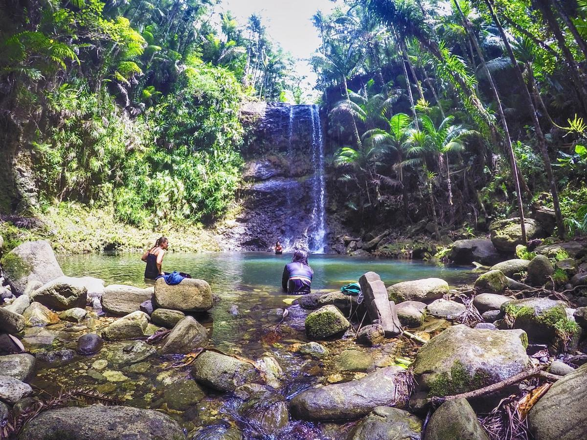 Journey to secluded San Carlos Falls and Swim Hole