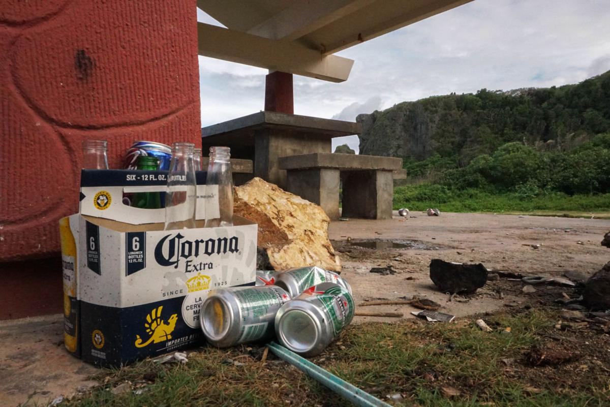 Beer cans and other garbage