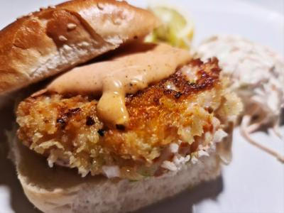 Fish House Burger puts the sea on a bun