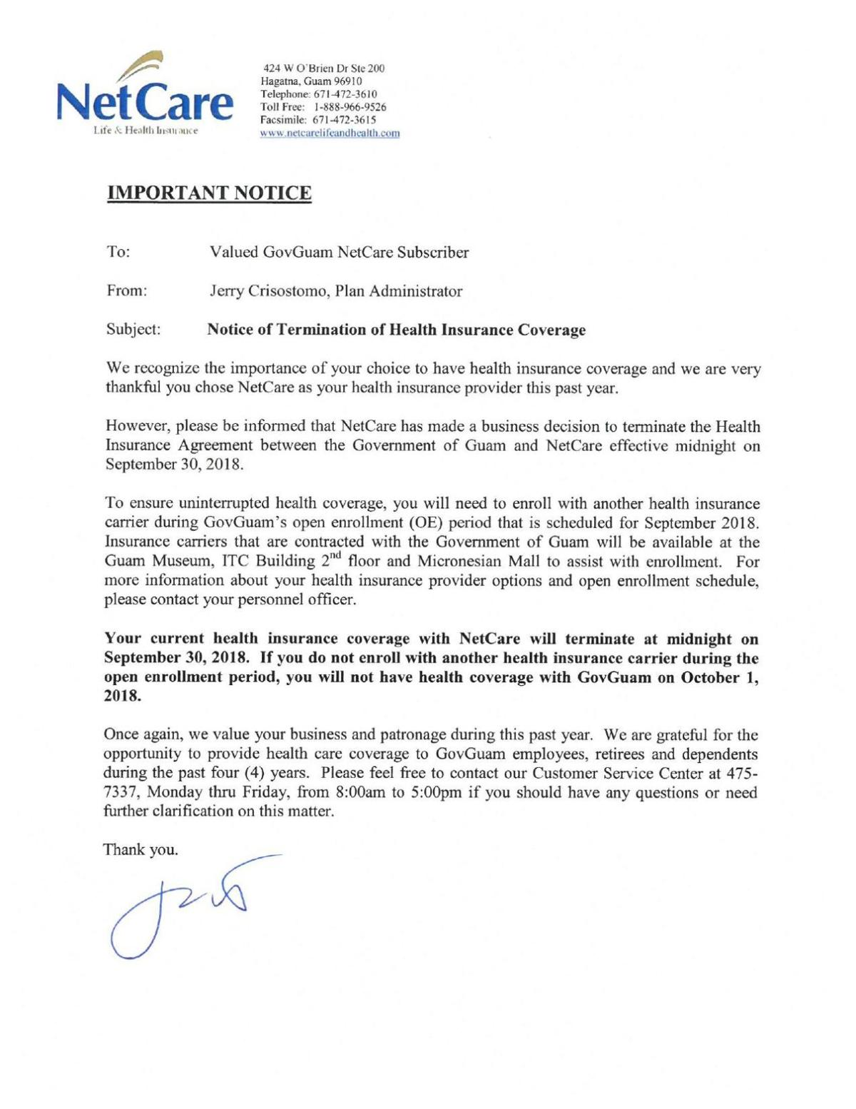 Health Insurance Cancellation Letter from bloximages.newyork1.vip.townnews.com