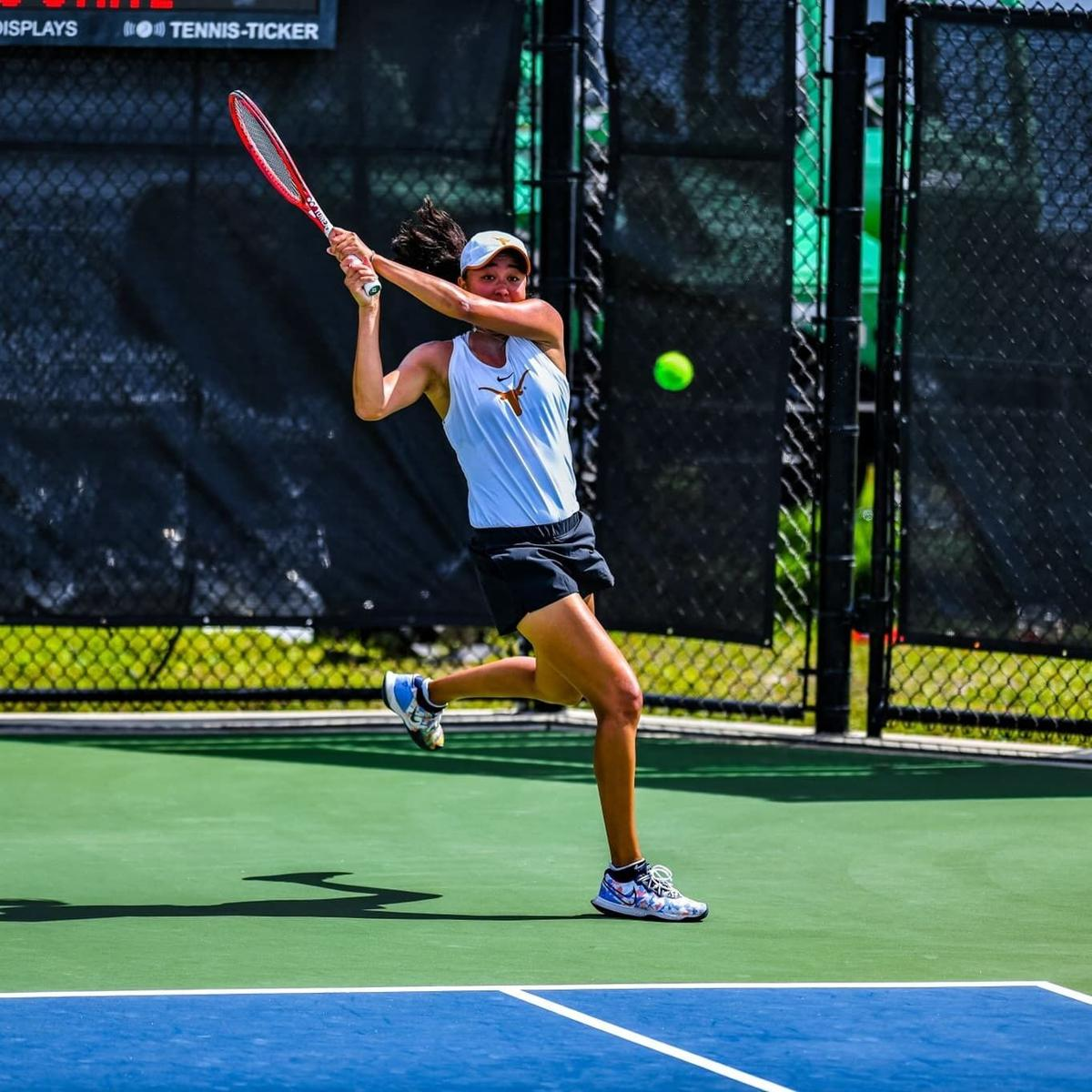 Tennis star with Guam ties helps her Texas team hook NCAA D1 championship