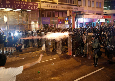 Hong Kong protests turn chaotic, violent