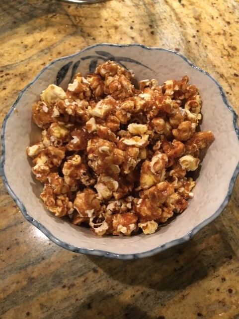 Get in the Christmas spirit with some caramel popcorn
