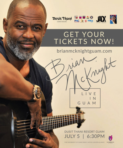 McKnight to perform on Guam next month