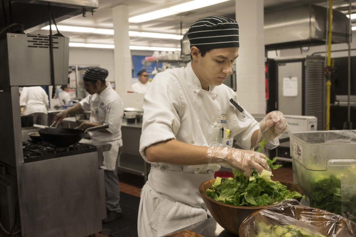 Student-chefs present five-star skills with Chinese buffet