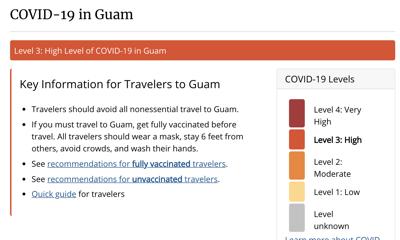 CDC raises Guam's risk level to 3
