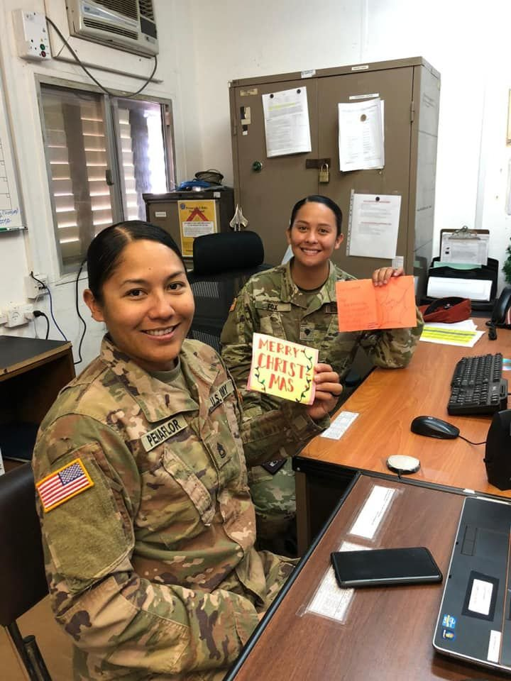 Southern High, Jose Rios students send Christmas greetings to soldiers