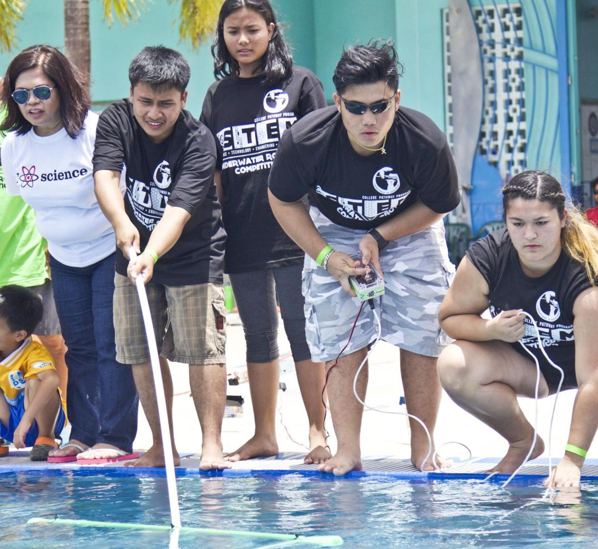 Tiyan High places first at Guam's first underwater robotics competition