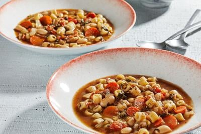 Add a fresh minestrone to your healthy January soup rotation