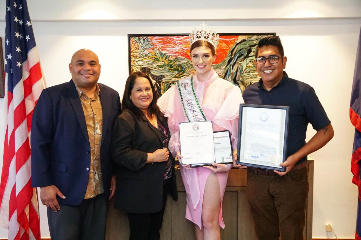 Elected officials recognize Miss Earth Guam